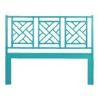 Chinese Chippendale Open-Frame Headboard Color: Seaglass, Size: Queen