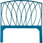 Royal Palm Open Frame Headboard Color: Pacific Blue, Size: Queen
