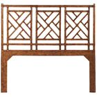 Chinese Chippendale Open-Frame Headboard Size: King, Color: Tortoise