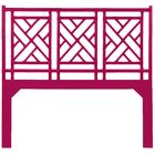 Chinese Chippendale Open-Frame Headboard Size: King, Color: Hisbiscus Pink