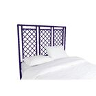 X and Diamond Open-Frame Headboard Color: Perfect Purple, Size: Twin