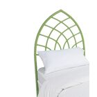 Cathedral Twin Open-Frame Headboard Color: Celery Green