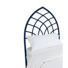 Cathedral Twin Open-Frame Headboard Color: Navy Blue