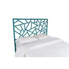 Tiffany Open-Frame Headboard Color: Pacific Blue, Size: King