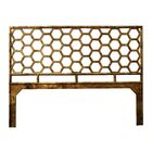 Honeycomb Open-Frame Headboard Color: Tortoise Shell, Size: Twin