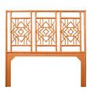 Tulum Open-Frame Headboard Color: Citrus Orange, Size: Twin