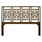 Tulum Open-Frame Headboard Color: Coffee Brown, Size: King
