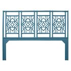 Tulum Open-Frame Headboard Color: Pacific Blue, Size: Twin