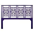 Tulum Open-Frame Headboard Color: Perfect Purple, Size: King
