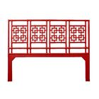 Palm Springs Open-Frame Headboard Color: Fire Red, Size: King