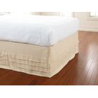 Waterfall Panel Bed Skirt Color: Ivory, Size: Queen