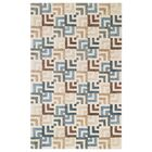 Squared Off Hand-Tufted Cream/Gray Area Rug Rug Size: 5' x 8'