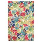 Hibiscus Hand-Tufted Red/Green Area Rug Rug Size: Rectangle 3' x 5'