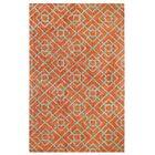 Diamond Lattice Hand-Tufted Orange Area Rug Rug Size: Rectangle 5' x 8'