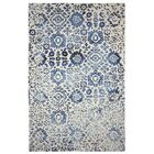 Batik Hand-Turfted Wool/Silk Navy Area Rug Size: Rectangle 8'6