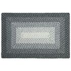 French Hand Braided Gray Area Rug Rug Size: Rectangle 8' x 10'