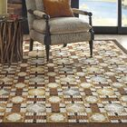 Pachisi Hand-Hooked Wool Toffee Area Rug Rug Size: Rectangle 4' x 6'