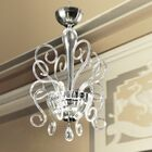 Bolero 3-Light Semi Flush Mount Fixture Finish: Chrome/Crystal