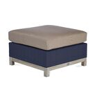 Angelica Outdoor Teak Ottoman with Sunbrella Cushion