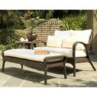 Bali Ottoman with Sunbrella Cushions Fabric: Summit Peony