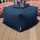 Wilda Large Ottoman Fabric: Navy Blue