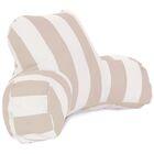Vertical Stripe Bolster Pillow Color: Sand