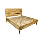 Ada King Platform Bed with Iron Legs Size: King