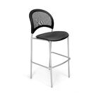 Stars and Moon Cafe Height Guest Chair Base Finish: Silver, Seat Cover: Slate Gray