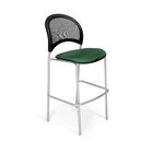 Stars and Moon Cafe Height Guest Chair Base Finish: Silver, Seat Cover: Forest Green