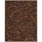 Delvecchio Hand-Woven Brown Area Rug Rug Size: Rectangle 5'3