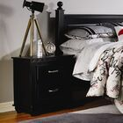 Madison 2 Drawer Nightstand Color: Black