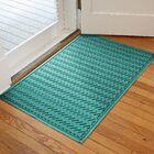 Harding Chevron Doormat Rug Size: 3' x 5', Color: Aquamarine