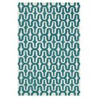 Maziarz Hand-Tufted Blue/Ivory Area Rug Rug Size: Rectangle 3'6