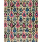 Zaleski Hand-Knotted Beige/Pink Area Rug Rug Size: Rectangle 7'9