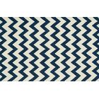 Danko Hand-Hooked Blue/Ivory Indoor/Outdoor Area Rug Rug Size: Rectangle 5' x 7'6