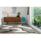 Dania Gray/White Area Rug Rug Size: Rectangle 9' x 12'
