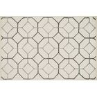 Kirkbride Ivory/Gray Area Rug Rug Size: Rectangle 9'3
