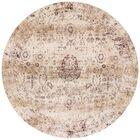 Zehner Ivory/Brown Area Rug Rug Size: Round 9'6