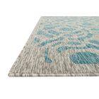 Summerfield Aqua/Gray Indoor/Outdoor Area Rug Rug Size: Rectangle 5'3
