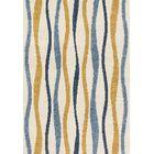 Dania Blue/Beige/Orange Area Rug Rug Size: Runner 2'3