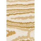 Dania Ivory/Gold Area Rug Rug Size: Square 7'7