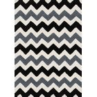 Broder Handmade Black/Charcoal Area Rug Rug Size: Rectangle 3' x 5'