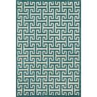 Dandridge Hand-Tufted Teal Area Rug Rug Size: Rectangle 7'10