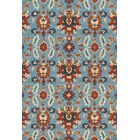 Kips Bay Hand-Hooked Blue/Red Area Rug Rug Size: Rectangle 7'6