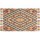 Zambrana Silver/Orange Area Rug Rug Size: Rectangle 7'9