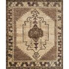 Zacarias Hand-Knotted Mocha/Beige Area Rug Rug Size: Rectangle 2' x 3'