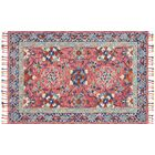 Jovany Hand-Hooked Pink Area Rug Rug Size: Rectangle 7'9