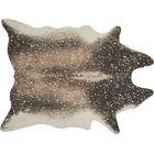 Duran Mocha/Gold Area Rug Rug Size: Rectangle 6'2