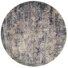 Postale Blue/Mist Blue Area Rug Rug Size: Round 9'6