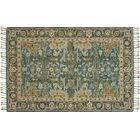 Jovany Hand-Hooked Wool Blue/Navy Area Rug Rug Size: Rectangle 2'6